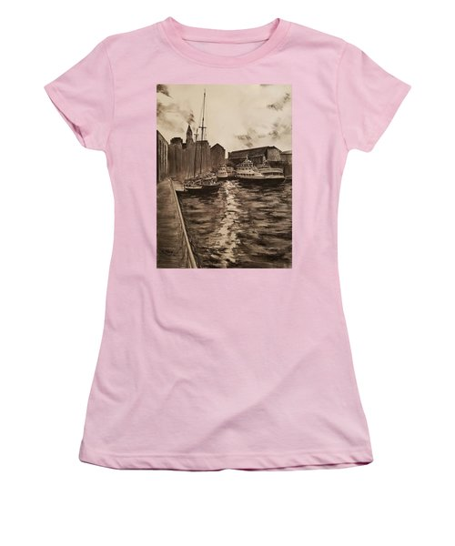 Boston Harbor Women's T-Shirt (Junior Cut) by Rose Wang