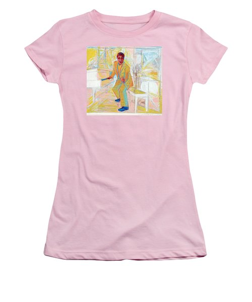Elton John Women's T-Shirt (Junior Cut) by Martin Cohen