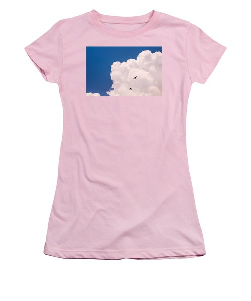 Women's T-Shirt (Junior Cut) featuring the photograph Flying Free by Jenny Rainbow