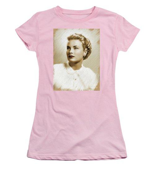 Grace Kelly, Vintage Actress Women's T-Shirt (Athletic Fit)