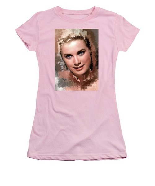 Grace Kelly, Vintage Hollywood Actress Women's T-Shirt (Junior Cut) by Mary Bassett