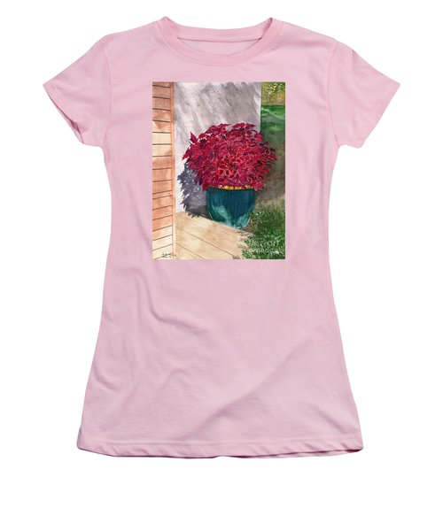 Women's T-Shirt (Junior Cut) featuring the painting In The Morning by Melly Terpening