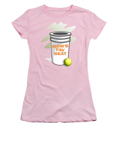 Mom's Favorite Seat Women's T-Shirt (Junior Cut) by Jerry Watkins