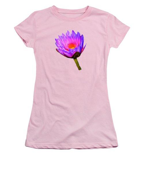 Pink Water Lily Women's T-Shirt (Junior Cut) by Pamela Walton