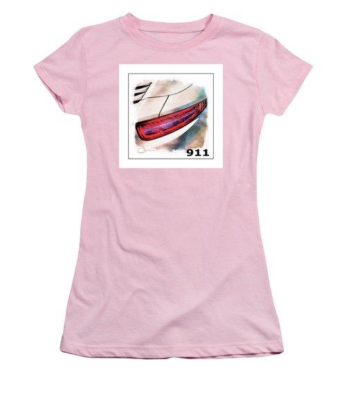 Porsche 911 Women's T-Shirt (Junior Cut) by Robert Smith