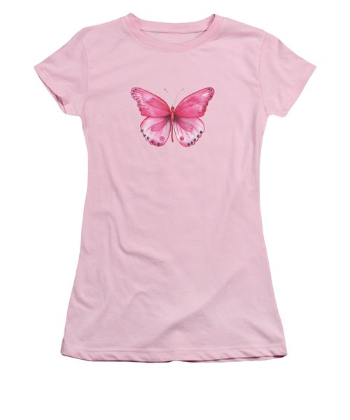 107 Pink Genus Butterfly Women's T-Shirt (Athletic Fit)