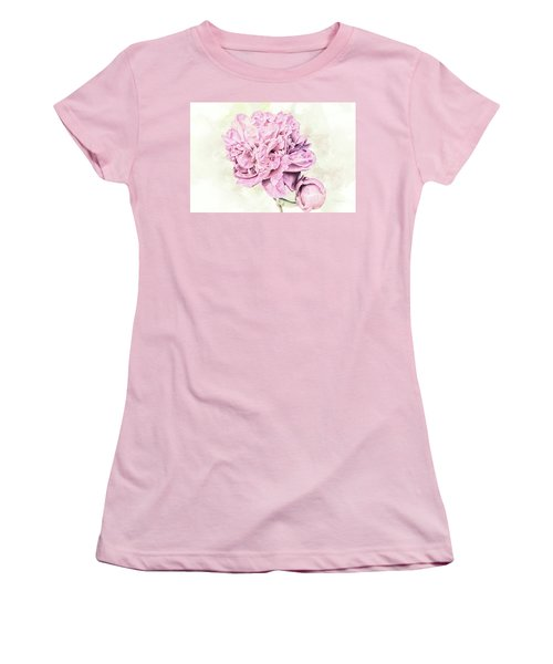 10861 Spring Peony Women's T-Shirt (Junior Cut) by Pamela Williams