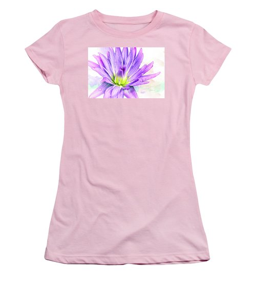 10889 Purple Lily Women's T-Shirt (Junior Cut) by Pamela Williams