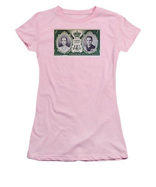 1956 Princess Grace Of Monaco Stamp II Women's T-Shirt (Junior Cut) by Bill Owen