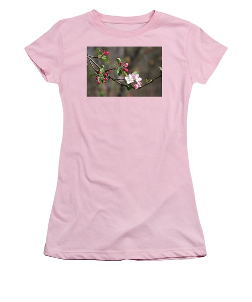 Women's T-Shirt (Athletic Fit) featuring the photograph Blossom And Hope by Vadim Levin