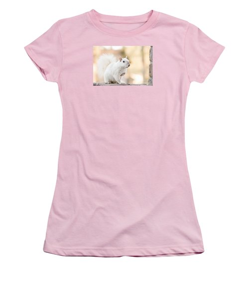 White Squirrel Women's T-Shirt (Junior Cut) by Vizual Studio