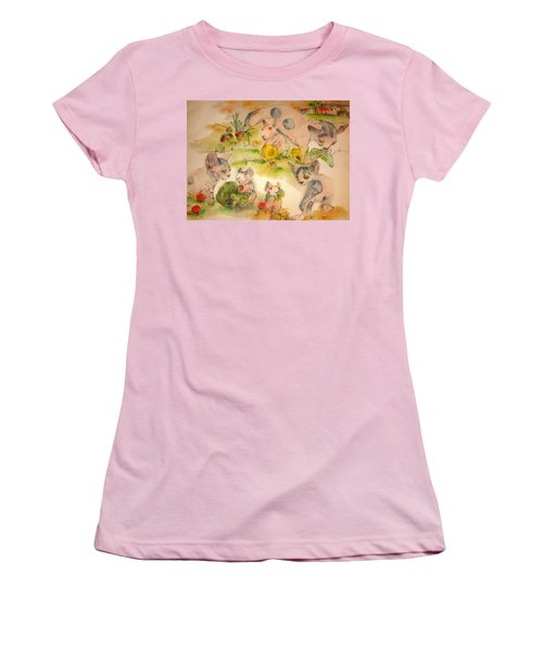 World Of Guinea Pigs And Naked Cats Album Women's T-Shirt (Junior Cut) by Debbi Saccomanno Chan