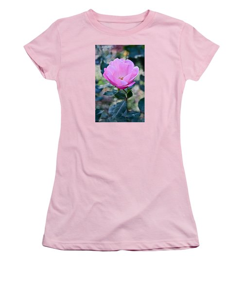 2015 After The Frost At The Garden Pink  Rose Women's T-Shirt (Junior Cut) by Janis Nussbaum Senungetuk