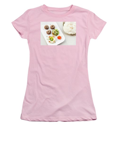 Falafel Hummus Houmus Starter Snack Food Mezze Platter Women's T-Shirt (Athletic Fit)