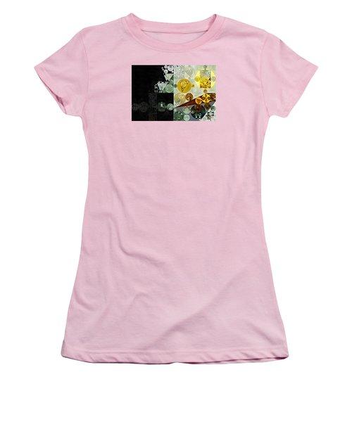 Women's T-Shirt (Junior Cut) featuring the digital art Abstract Painting - Smoky Black by Vitaliy Gladkiy