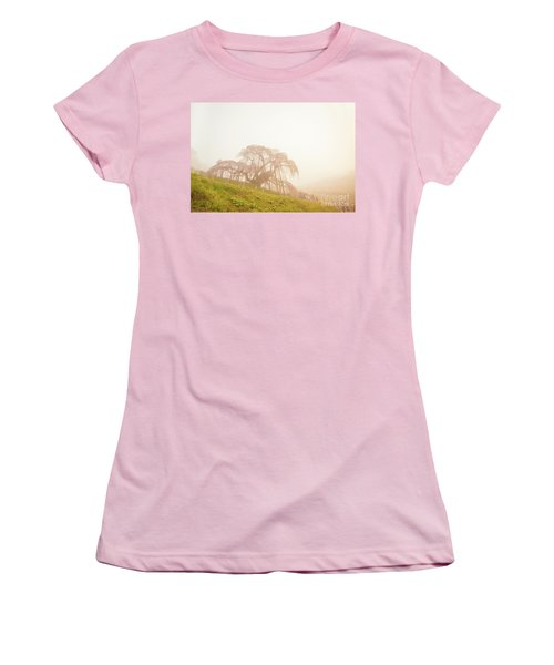 Women's T-Shirt (Athletic Fit) featuring the photograph Miharu Takizakura Weeping Cherry05 by Tatsuya Atarashi