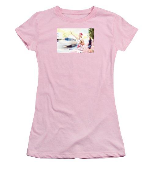 Vintage Val The Coral Hat Women's T-Shirt (Junior Cut) by Jill Wellington