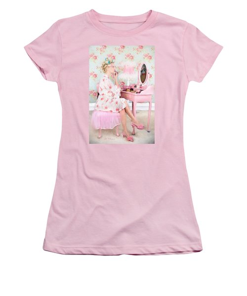 Vintage Valentine Date Women's T-Shirt (Athletic Fit)
