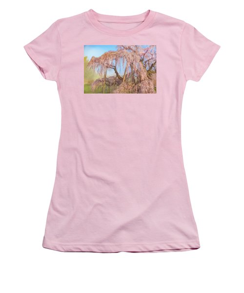 Women's T-Shirt (Athletic Fit) featuring the photograph Miharu Takizakura Weeping Cherry08 by Tatsuya Atarashi