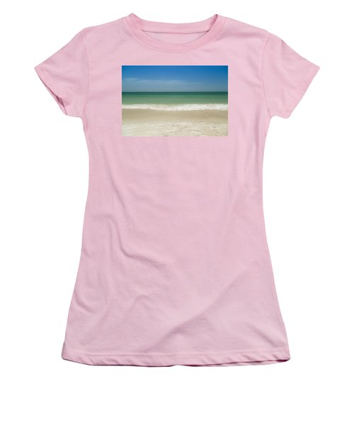 A Calm Wave Women's T-Shirt (Junior Cut) by Christopher L Thomley