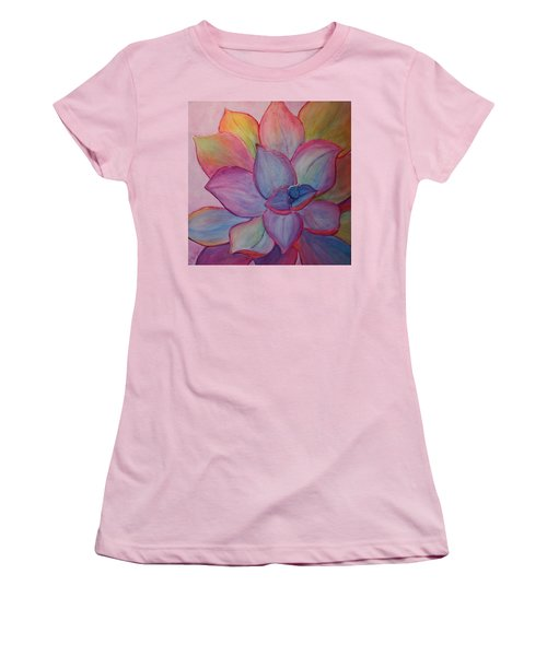 Women's T-Shirt (Junior Cut) featuring the painting A Reason For Being by Sandi Whetzel