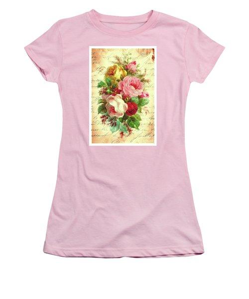 A Rose Speaks Of Love Women's T-Shirt (Junior Cut) by Tina LeCour
