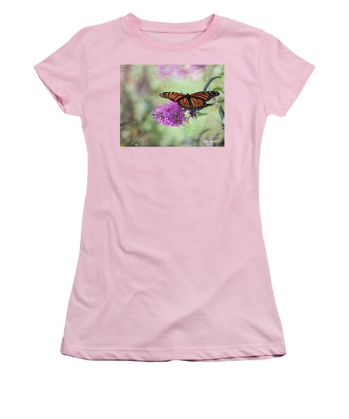 Women's T-Shirt (Junior Cut) featuring the photograph A Touch Of Spring by Laurinda Bowling