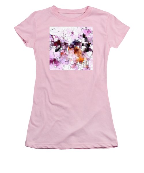 Abstract And Minimalist Art Made Of Geometric Shapes Women's T-Shirt (Junior Cut) by Ayse Deniz