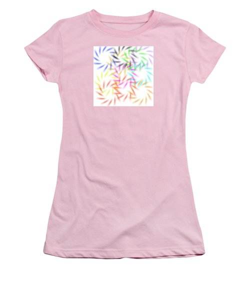 Abstract Fireworks Women's T-Shirt (Athletic Fit)