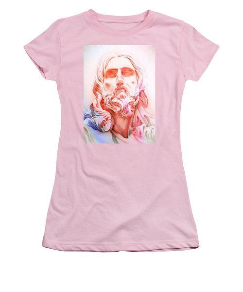 Women's T-Shirt (Junior Cut) featuring the painting Abstract Jesus 1 by J- J- Espinoza
