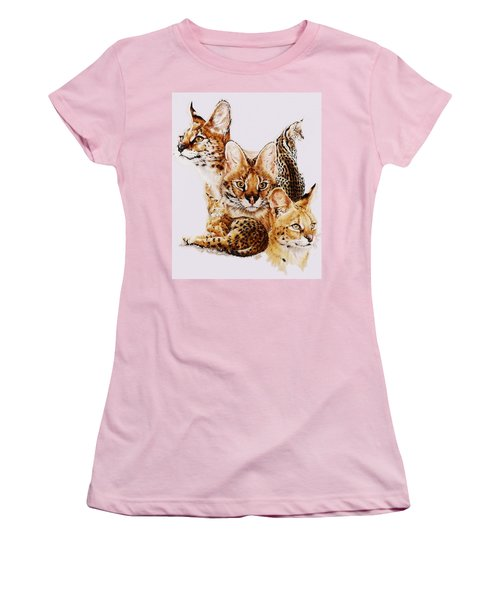 Women's T-Shirt (Junior Cut) featuring the drawing Adroit by Barbara Keith