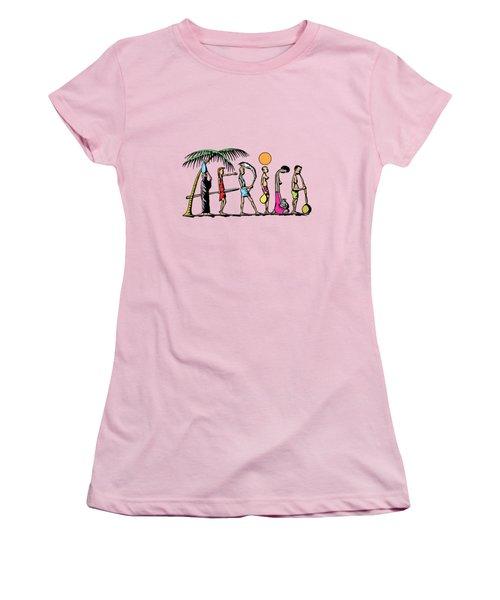 Africa Women's T-Shirt (Junior Cut) by Anthony Mwangi