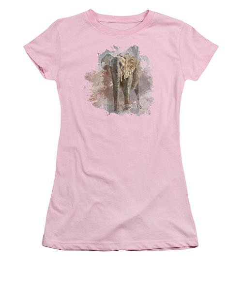 Women's T-Shirt (Junior Cut) featuring the photograph African Elephant - Transparent by Nikolyn McDonald