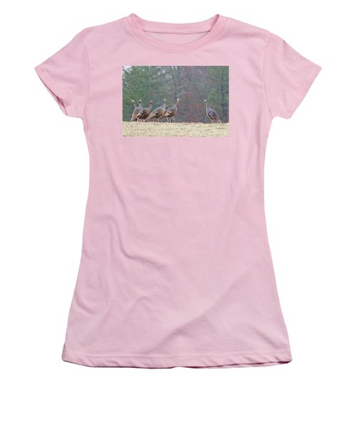 Women's T-Shirt (Junior Cut) featuring the photograph Against The Crowd 1287 by Michael Peychich