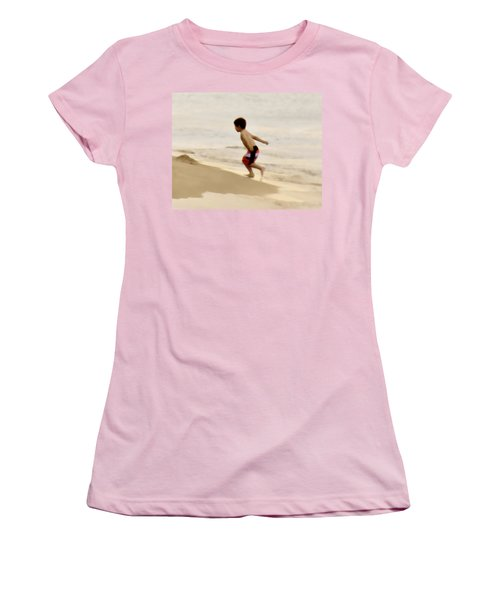 Airplane Boy Women's T-Shirt (Athletic Fit)