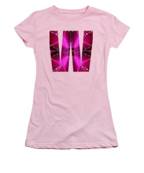 Alpha Art On Shirts Alphabets Initials   Shirts Jersey T-shirts V-neck Sports Tank Tops Navinjoshi  Women's T-Shirt (Junior Cut) by Navin Joshi
