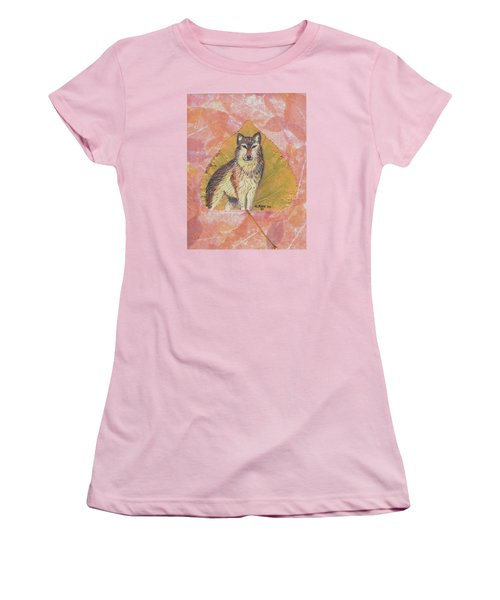 Alpha Male On Natural Leaf Women's T-Shirt (Junior Cut) by Ralph Root