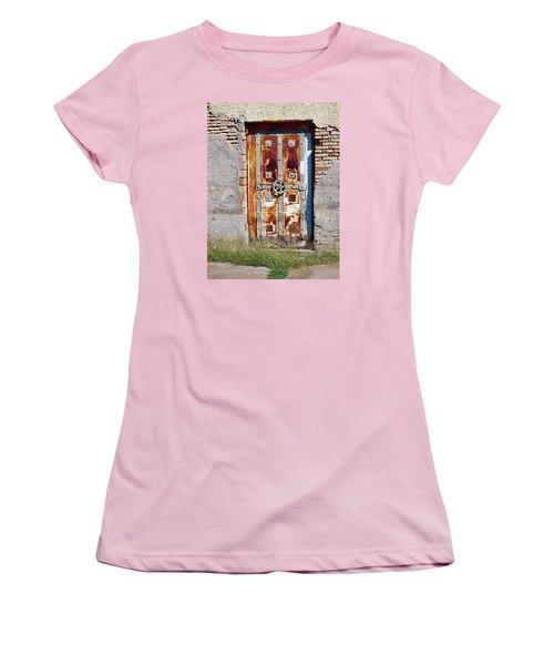 An Old Rusty Door In Katakolon Greece Women's T-Shirt (Athletic Fit)