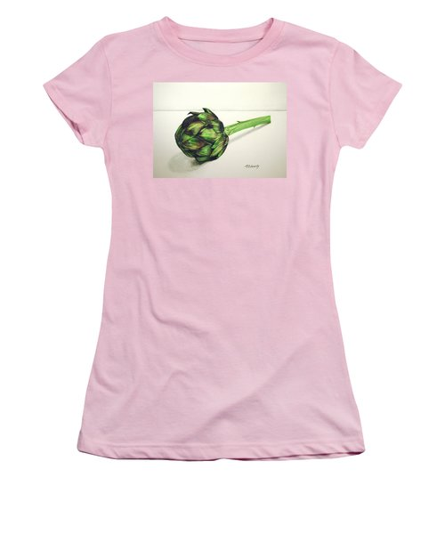 Women's T-Shirt (Junior Cut) featuring the painting Artichoke by Marna Edwards Flavell