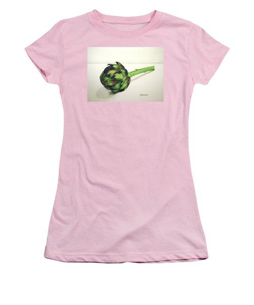 Artichoke Women's T-Shirt (Junior Cut) by Marna Edwards Flavell