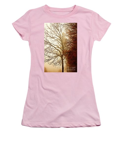 Women's T-Shirt (Junior Cut) featuring the photograph Autumn Morning by Stephanie Frey