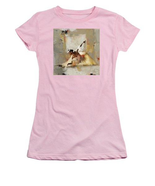 Ballerina Dance On The Floor 01 Women's T-Shirt (Junior Cut) by Gull G
