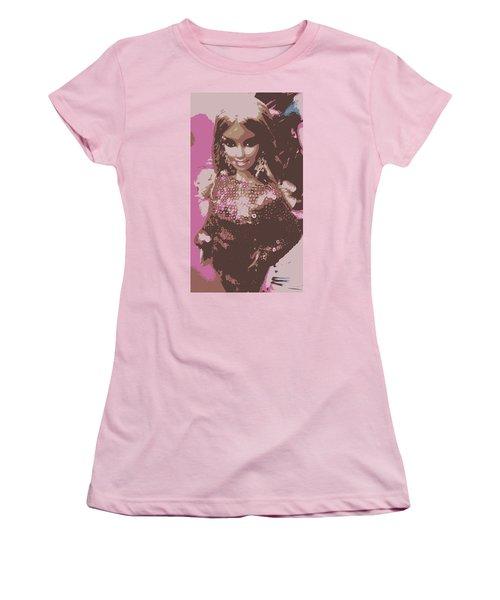 Barbie Sparkle Women's T-Shirt (Junior Cut) by Karen J Shine