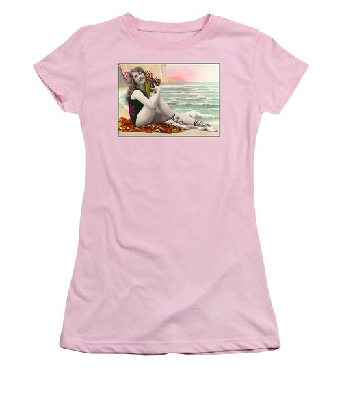 Bathing Beauty On The Shore Bathing Suit Women's T-Shirt (Athletic Fit)