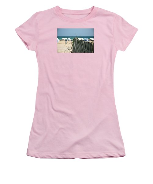 Beach Fence Women's T-Shirt (Junior Cut) by Edgar Torres