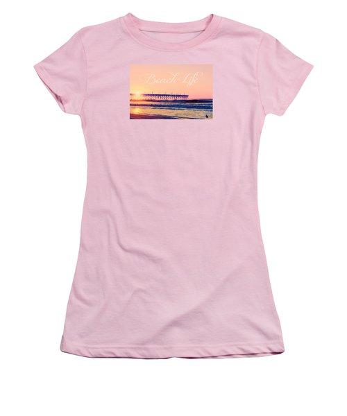 Beach Life Women's T-Shirt (Junior Cut) by Kelly Nowak