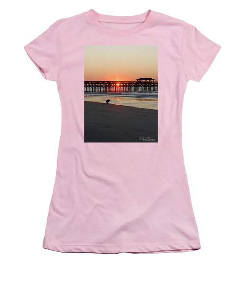 Beachcomber Women's T-Shirt (Junior Cut) by Gordon Mooneyhan