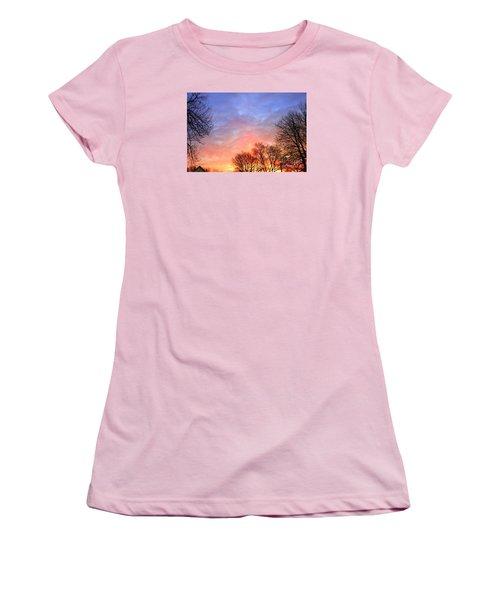 Beautiful Sunrise After Blizzard  Women's T-Shirt (Junior Cut) by Yumi Johnson