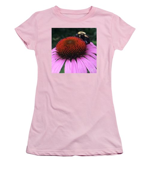 Bee On Flower By Saribelle Rodriguez Women's T-Shirt (Athletic Fit)