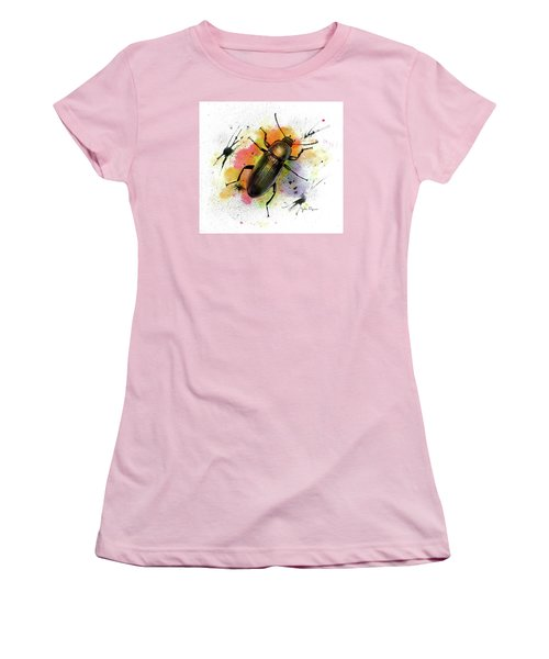 Beetle Illustration Women's T-Shirt (Athletic Fit)